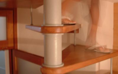 Prima e dopo - Sostituzione di una scala a chiocciola in una scala a giorno: Immagine Elenchi